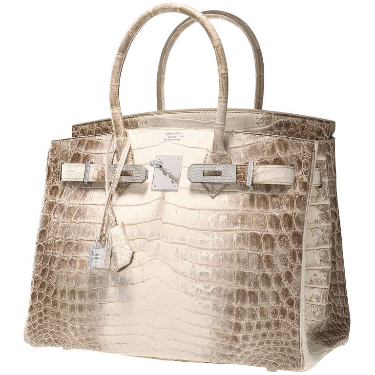 c31d50607a ONE   ONLY HERMES BIRKIN BAG 30cm MATTE HIMALAYAN CROCODILE 18K   DIAMOND