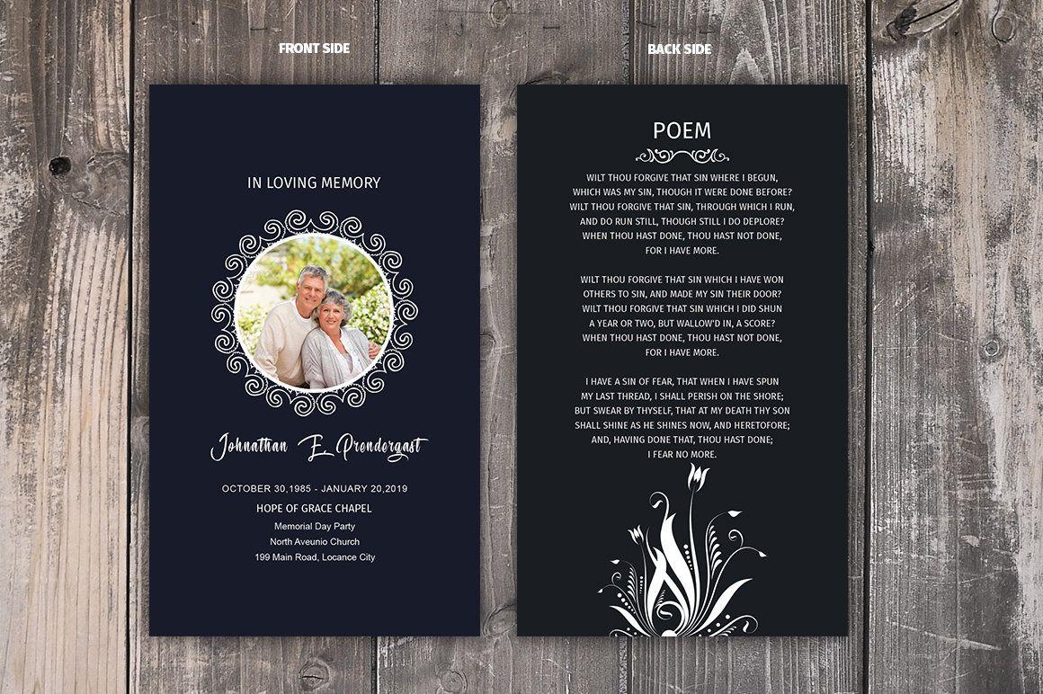Funeral Prayer Card Template Editable Ms Word Photoshop Etsy Funeral Prayers Card Templates Free Prayer Cards