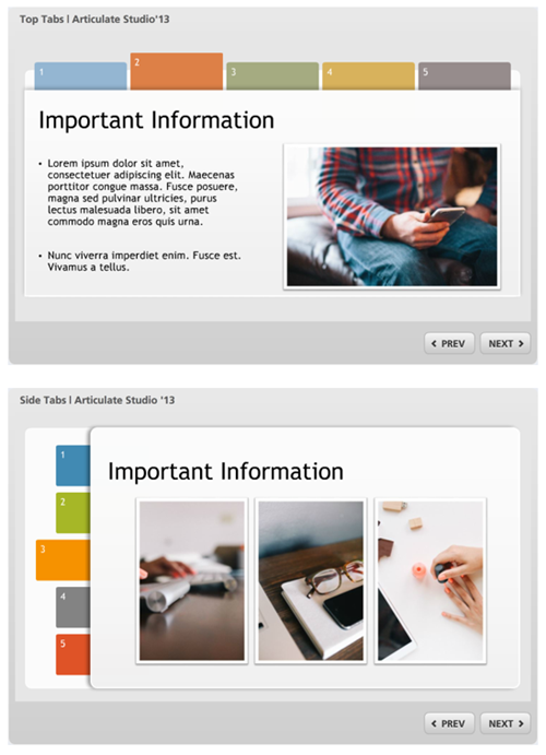Free Powerpoint Template Tabs Interaction The Rapid E Learning Blog Interactive Powerpoint Presentation Elearning Interactive Powerpoint