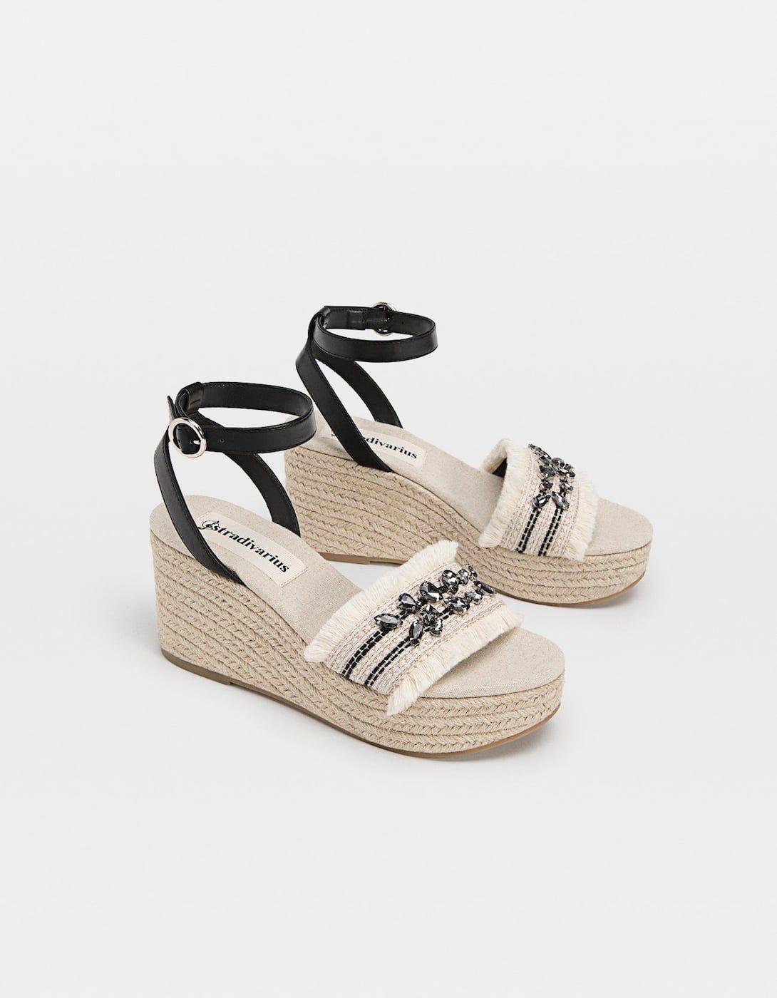 En Y Zapatos 2019Moda Cuñas Joyas Yute YuteStradivarius XiZPuk