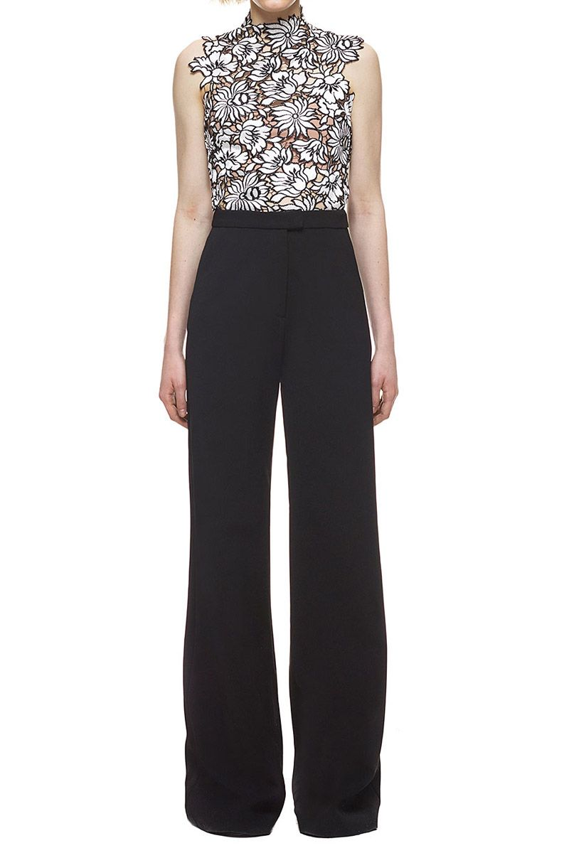 wide-leg trousers - Black Self Portrait iT8D3s6