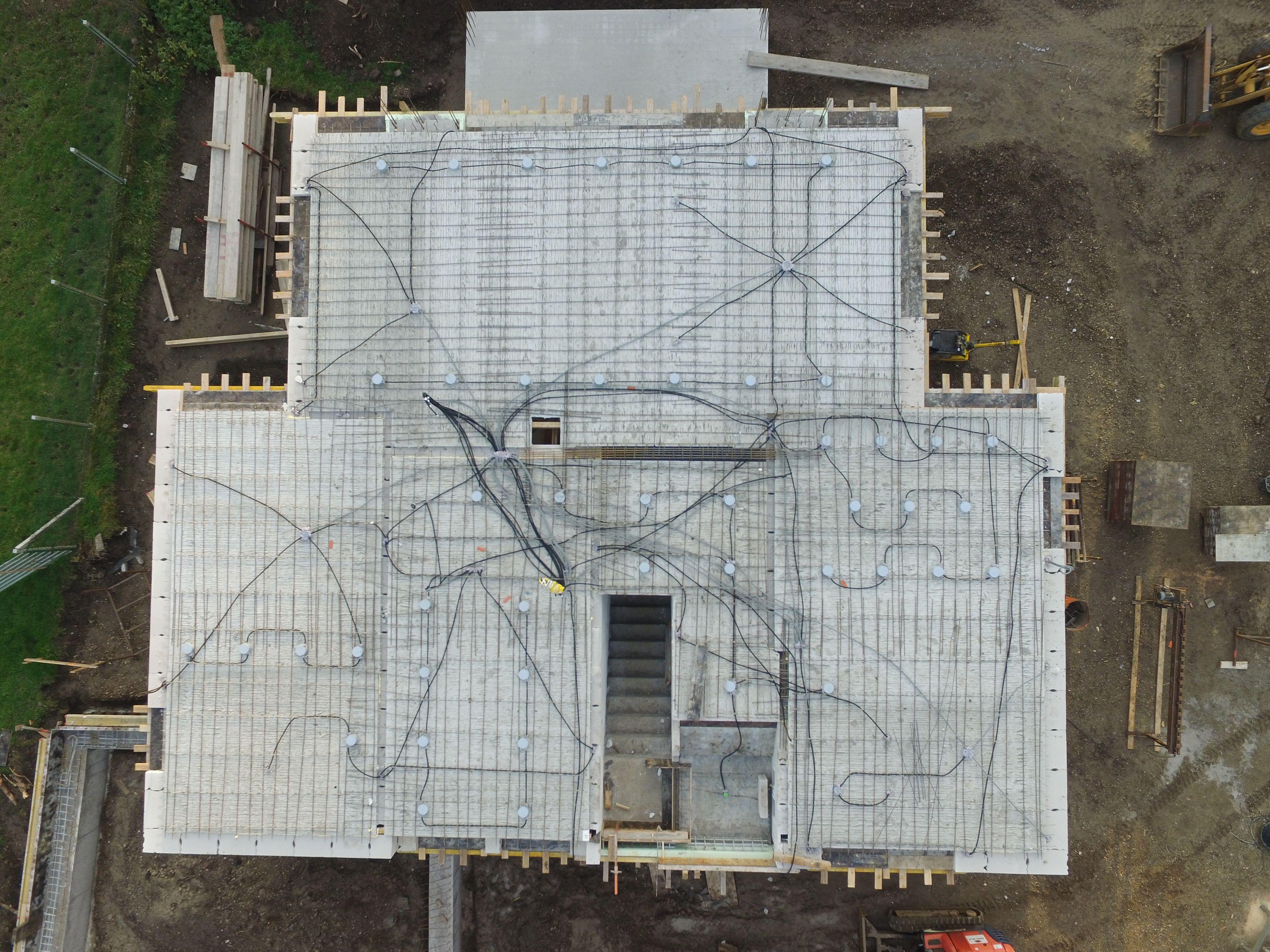 Elektroinstallation Rohdecke, Leerohre
