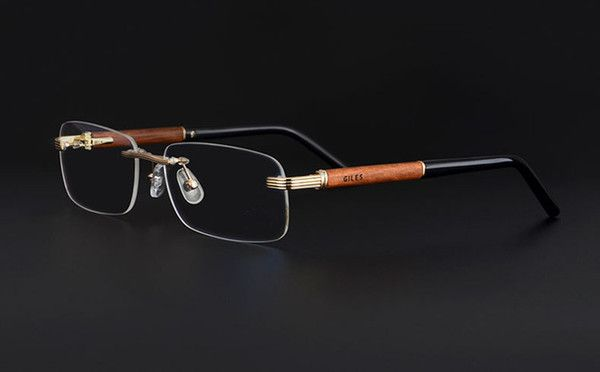 9873ef69e6a Wooden Feet Mens Rimless Eyeglass Frames High End Business Optical Frame  Men Eyeglasses Gold Silver Color China Eye Glasses Eyewear Designer Glass  Frames ...