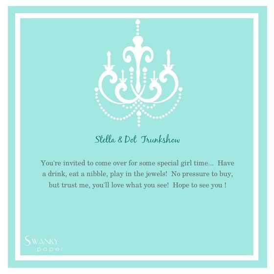 stella and dot party invitation Stella \ Dot Pinterest Party - invitation template online