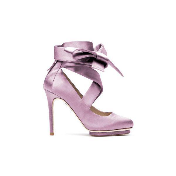 Liam Fahy Charlotte Heels (9 085 SEK) ❤ liked on Polyvore featuring shoes, pumps, lilac, platform stiletto pumps, satin shoes, platform stilettos, lilac pumps and platform pumps