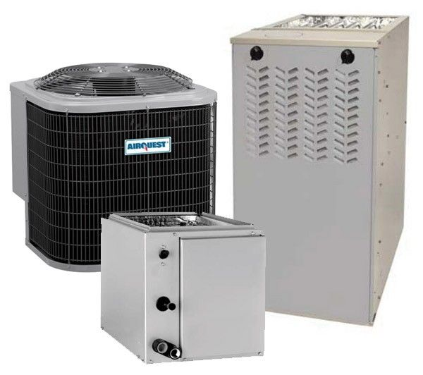 1 5 Ton 13 Seer 92 1 Afue 80 000 Btu Airquest By Carrier Gas Furnace And Air Conditioner System Upflow Or Downflow Gas Furnace Air Conditioner Furnace System