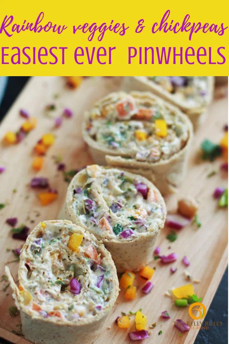 Rainbow Vegetables Pinwheels Recipe Pinwheel recipes