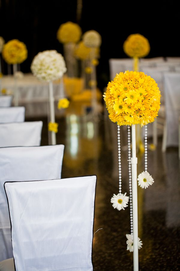 I want this at my wedding. #wedding #decor #yellow