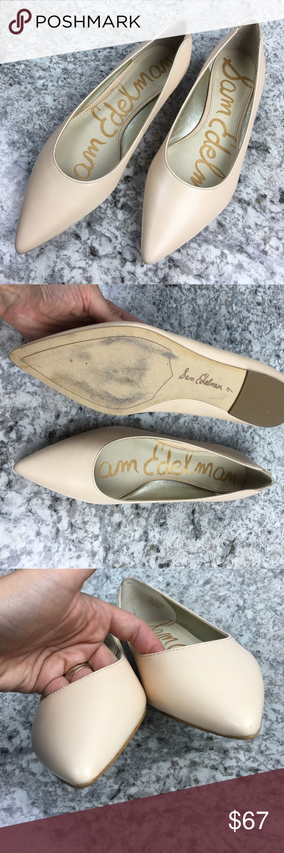 c55b1bf97 Sam Edelman rae nude pointed toe dress flat Brand new without tags. Trying  on wear