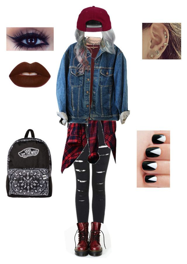 """Outfit Of The Day:Feeling Grunge."" by depressedandbroken ❤ liked on Polyvore featuring mode, Hanro, Marni, Lime Crime, Vans, Wet Seal, H&M, women's clothing, women en female"