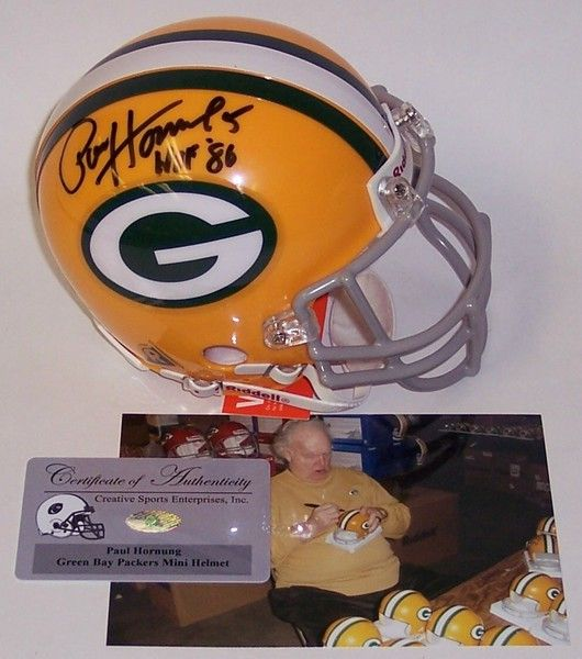 Paul Hornung Autographed Hand Signed Packers Mini Authentic Helmet - PSA/DNA