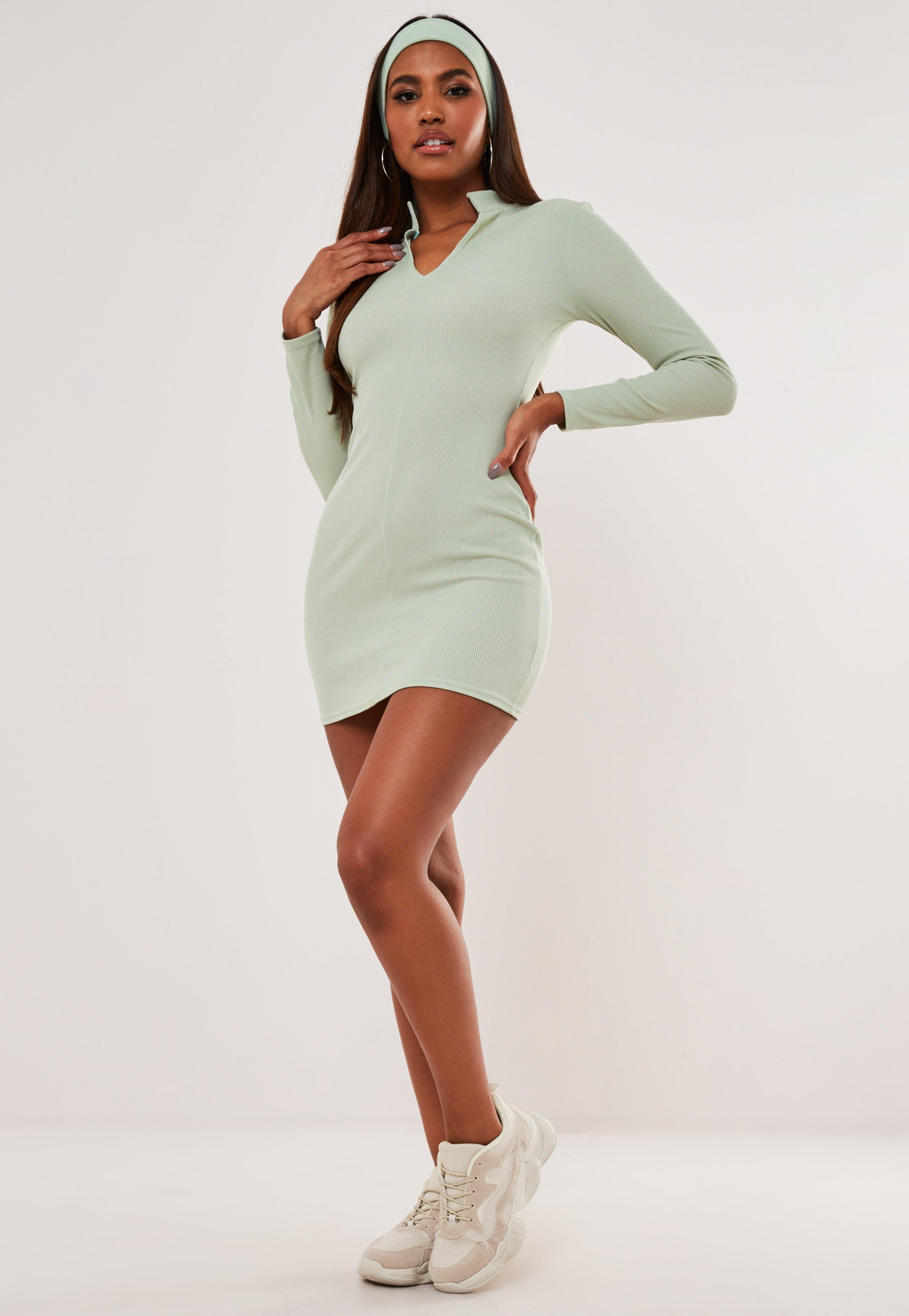 Green Rib Notch Neck Mini Dress Sponsored Notch Affiliate Rib Green Trending Dresses Long Sleeve Mini Dress Dresses [ 4200 x 2900 Pixel ]