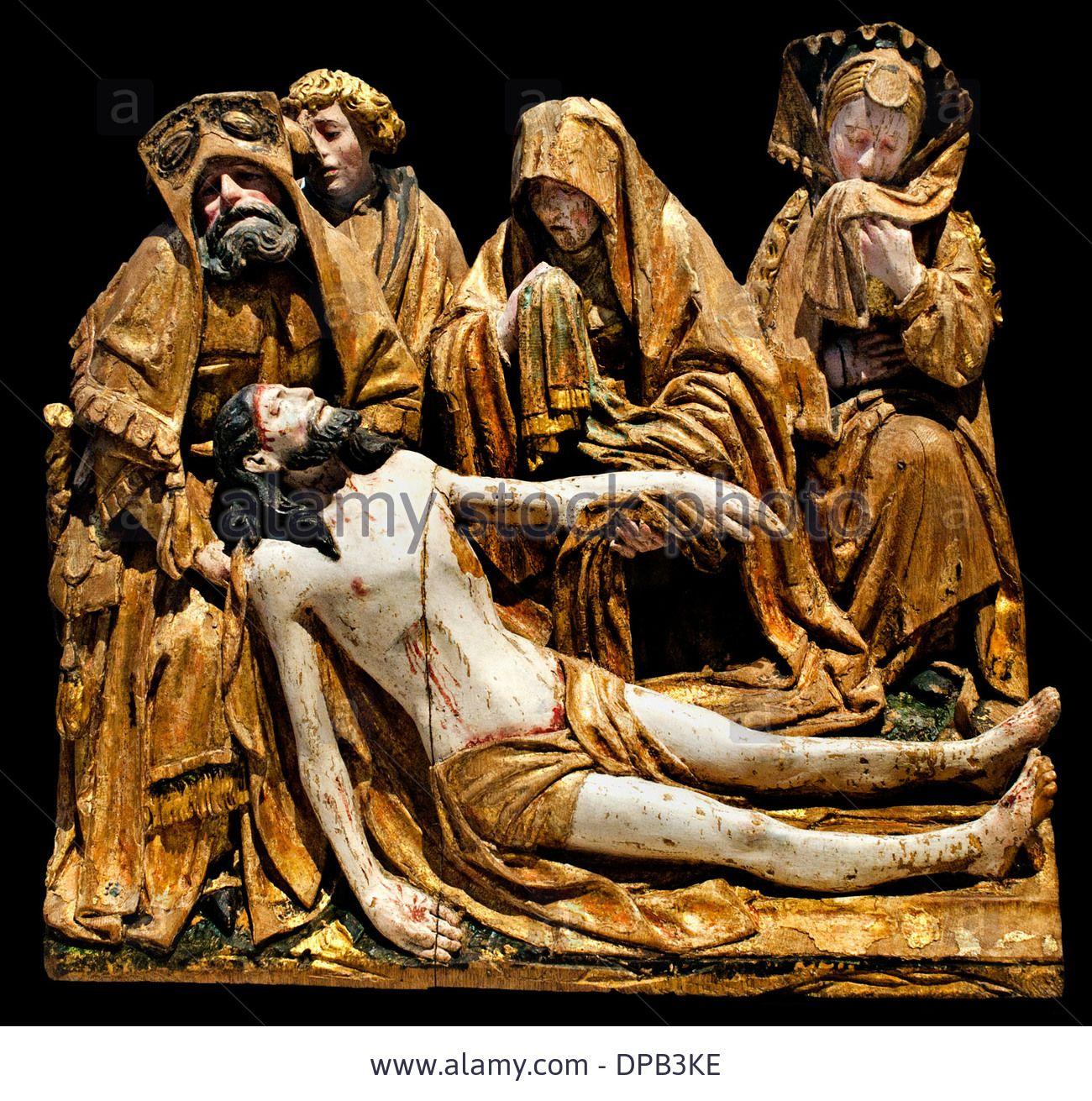 Dieses Stockfoto: Element Altarpiece: Lamentation of Christ Antwerp (now Belgium) around 1515-1520 polychrome wood oak - DPB3KE aus der Alamy-Bibliothek mit Millionen von Stockfotos, Illustrationen und Vektorgrafiken in hoher Auflösung herunterladen.