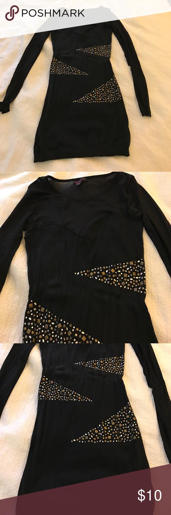 Material girl black dress s material girl from macys black sweater
