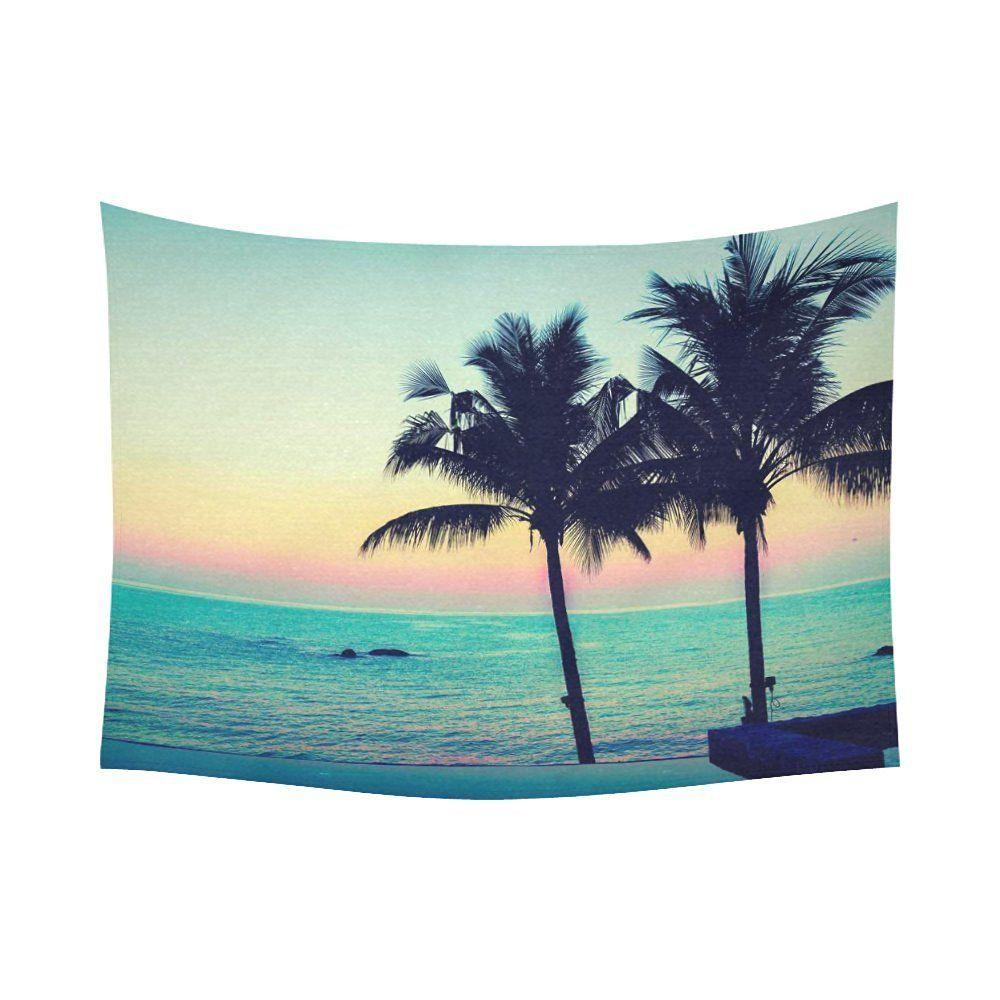 Interestprint twilight sunrise vintage palm