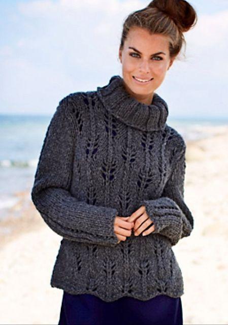 Chunky Sweater Pattern By Sanne Fjalland Knitting Pinterest