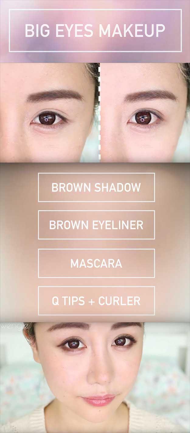 12 Best Makeup Tips For Asian Women - The Goddess  Big eyes