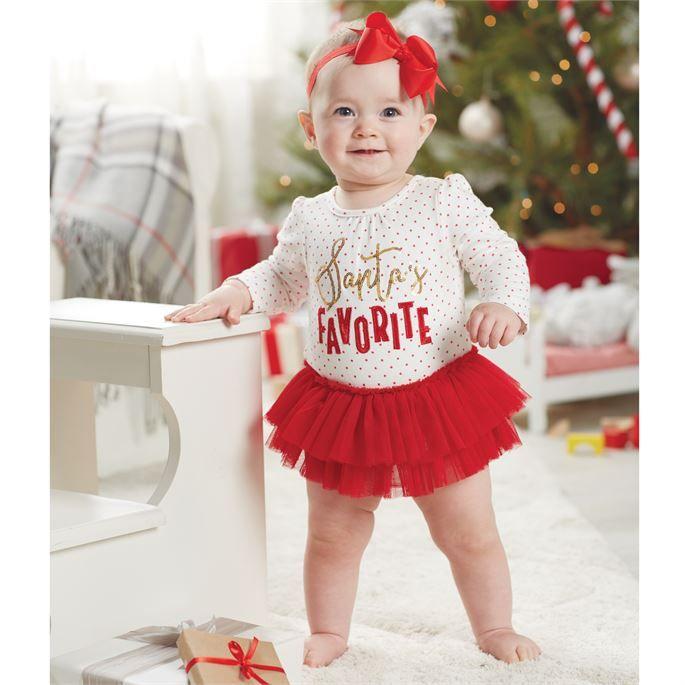 Mud Pie Santa's Favorite Tutu Crawler| Christmas Outfits for Sweet ...