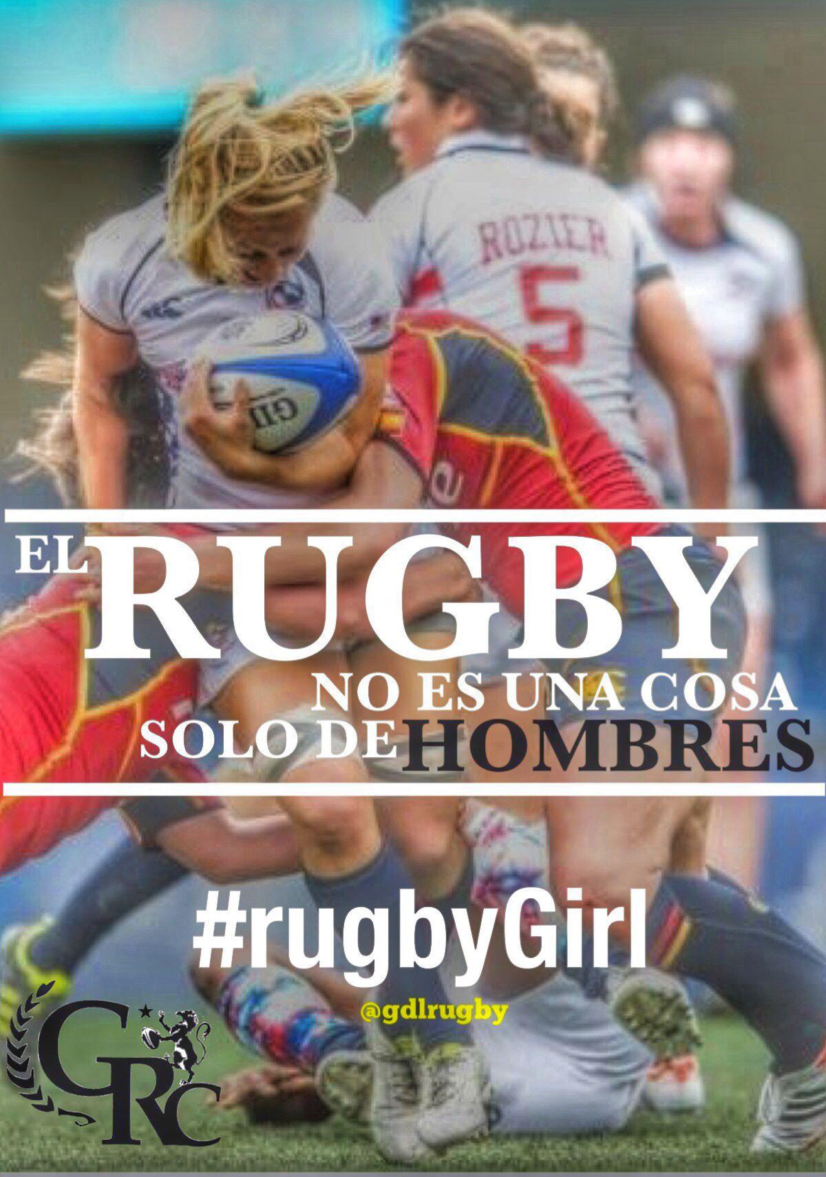 El Rugby no es solo cosa de hombres.  #playrugby #rugbygirl #rugby