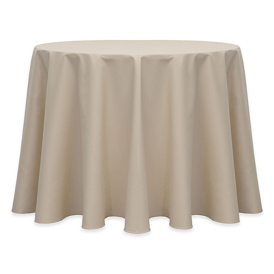 120 Round Indoor Outdoor Twill Tablecloth In Beige Indoor Outdoor Table Settings Round Tablecloth