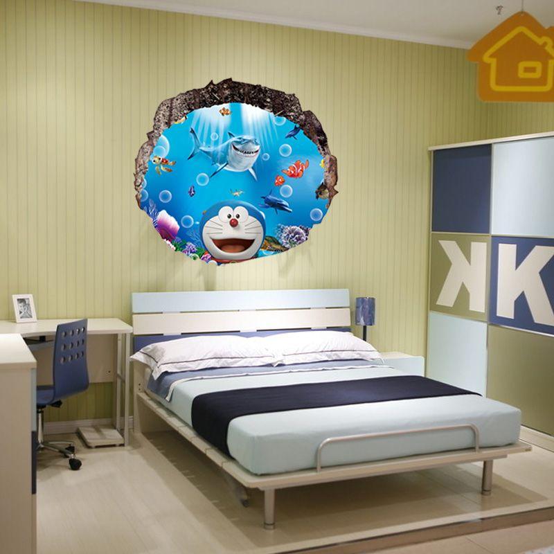 A Doraemon 3D Three-dimensional Wall Stickers