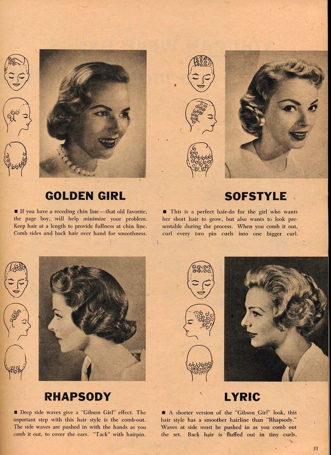 50s Hair Pincurl Sets Vintage Hairstyles Vintage Curls Vintage Hairstyles Tutorial