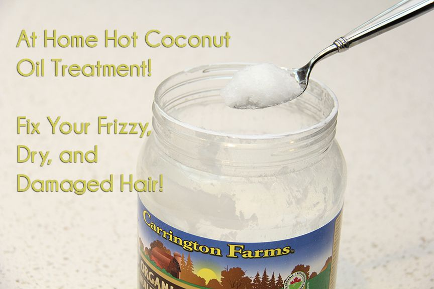 Hot Coconut Oil Hair Treatment u2014 Magically fix dry and damaged hair the all natural (and organic!) way