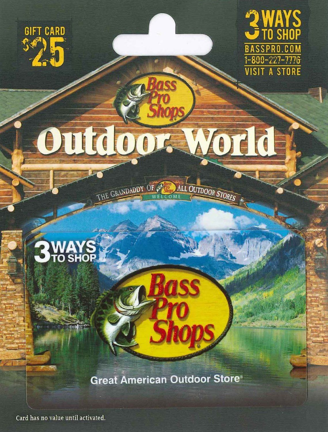 Bass pro shops gift card 25 gift cards store