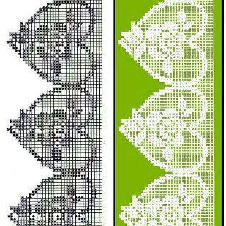 Herzen Häkeln Borte Bordüre Spitzen - crochet edging lace border