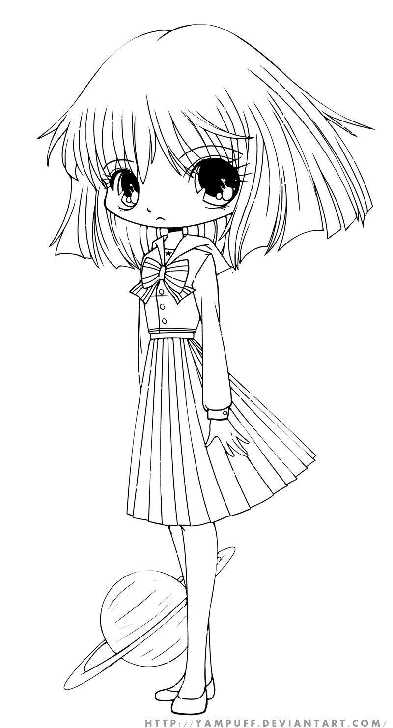 Hotaru Chibi Lineart by YamPuff on deviantART   DeviantART ...