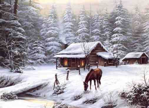 Image result for cozy cabin horse