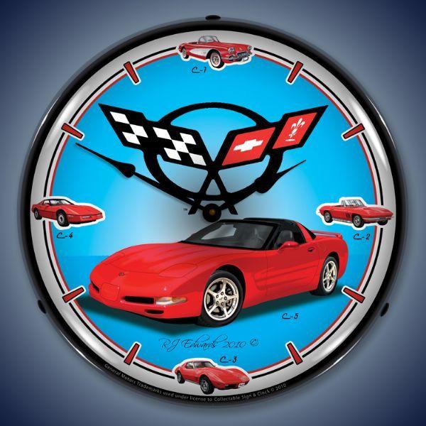 Led C5 Corvette History 14 Backlit Lighted Advertising Etsy In 2020 Corvette History Corvette Corvette Clock