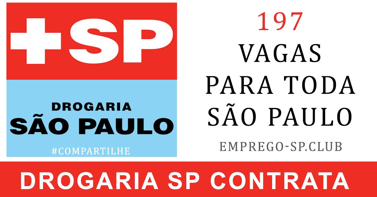 194 vagas para trabalhar na DROGARIA SP ótimos de R$ 1.700 à R$ 4.000 envie seu CV