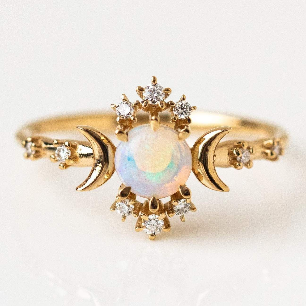 Wandering Star Ring with Opal (With images) Beautiful