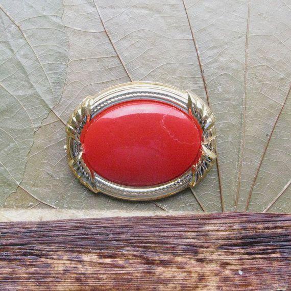 Vintage Metal Brooch, Soviet Jewelry, Retro Red Brooch, Vintage Accessory, Soviet Red Pin, Ladies Accessory, Soviet Jewelry, Gift for Her https://www.etsy.com/shop/MyBootSale