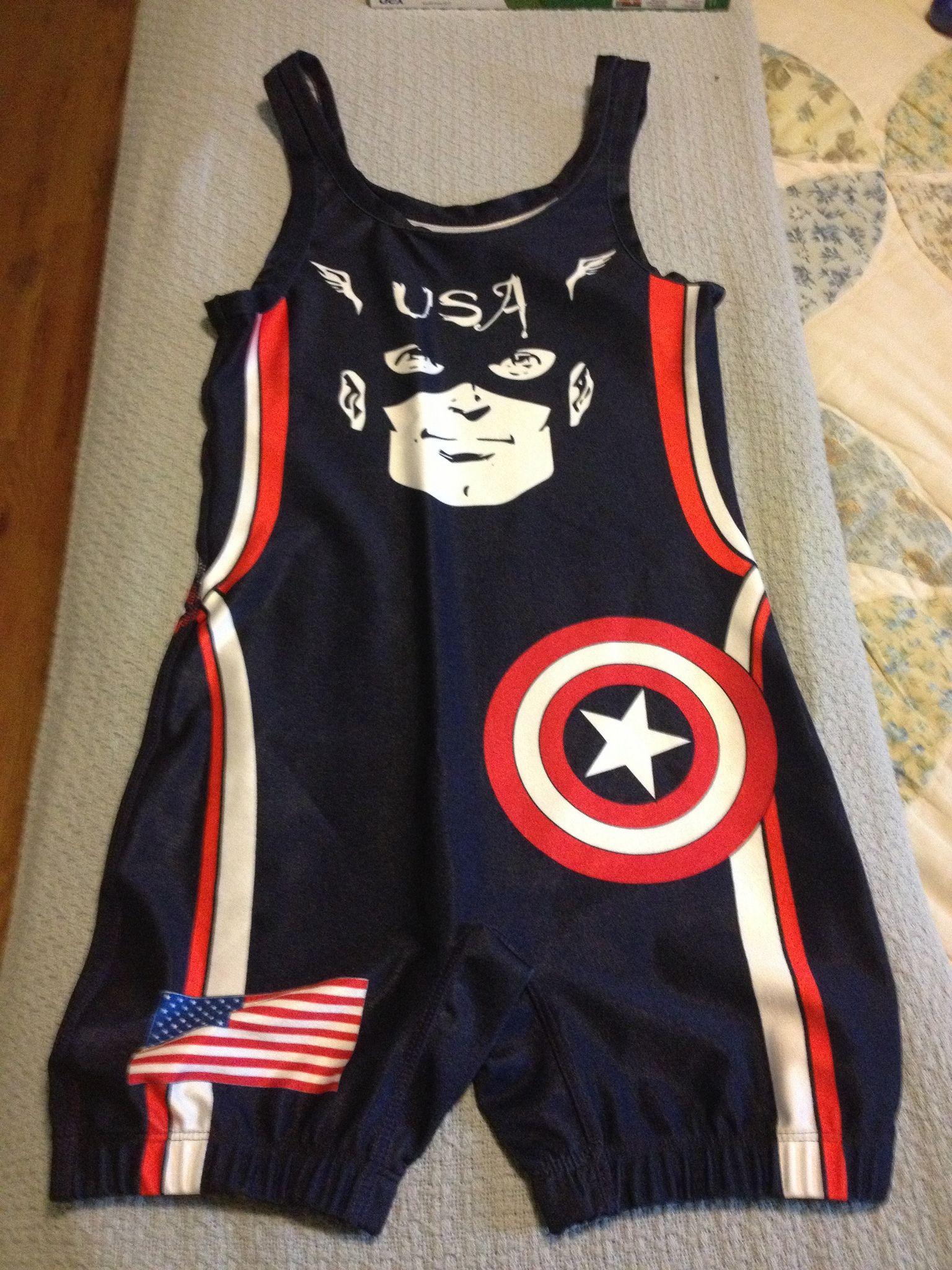 Captain America USA wrestling singlet Wrestling singlet