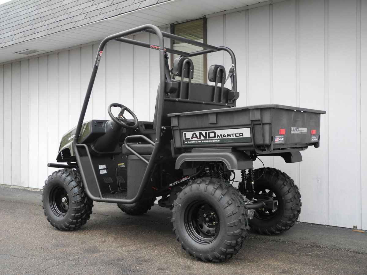 this american sportworks landmaster lm400 side by side utv is equipped with a 390cc honda gas. Black Bedroom Furniture Sets. Home Design Ideas