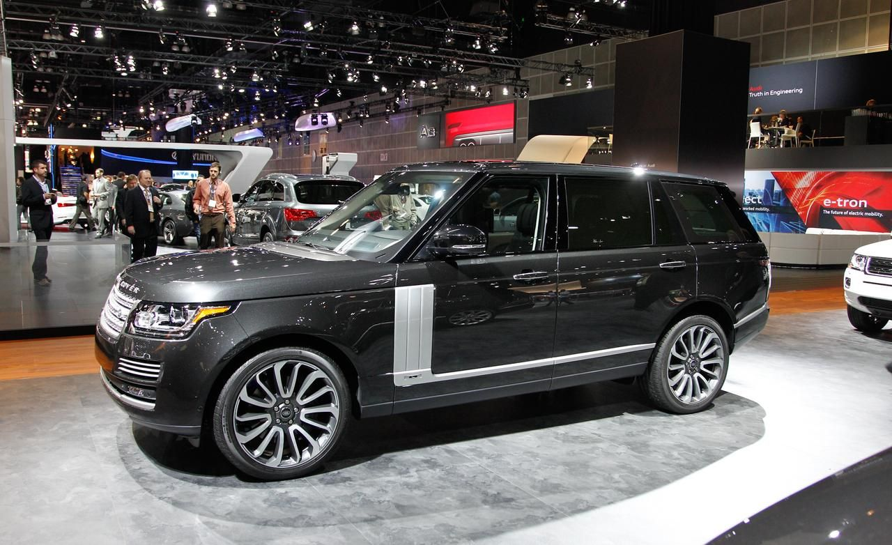 2014 land rover range rover autobiography black at 2013 la auto show on the everyman driver news channel with dave erickson