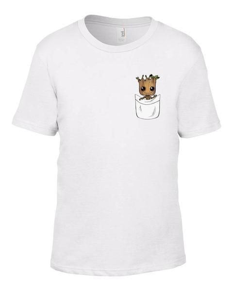 7d5418f581 GUARDIANS OF THE GALAXY 2 - BABY GROOT - POCKET PRINT T-SHIRT KIDS MENS  LADIES  Unbranded