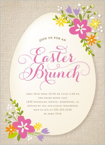 Easter Blooms Brunch invitation card from Shutterfly.com