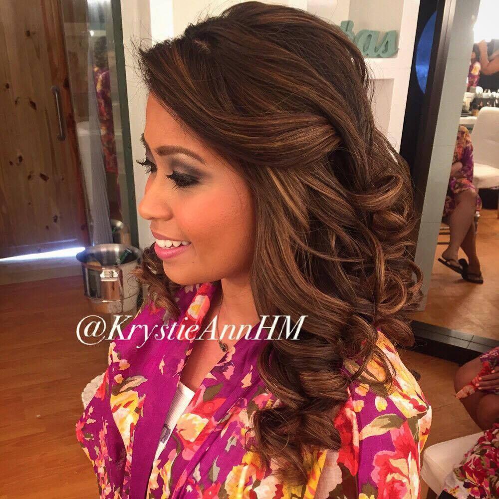 gorgeous beach wedding curls!! <3 hair + makeup: www
