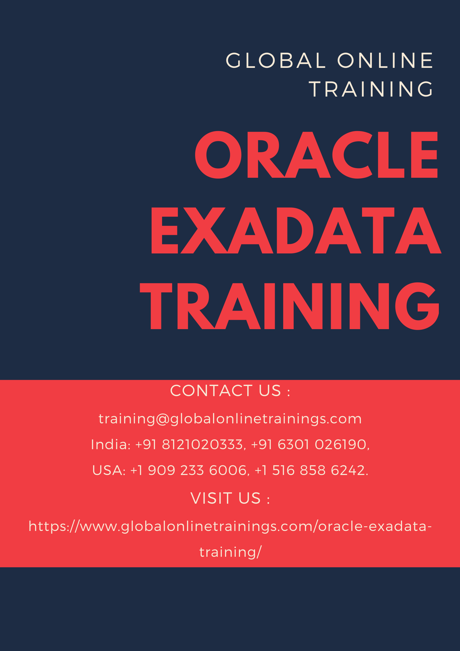 Oracle Exadata Training is an data appliance,fastest