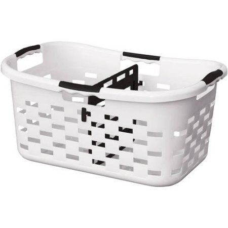 Tall Plastic Laundry Basket Interesting Clorox Sort'n Fold Antimicrobial Plastic Laundry Basket With Sorter Decorating Inspiration
