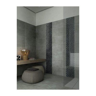 Mosaico Ardesia H 30 X L 30 Cm Nero E Argento Ardesia Bagno E