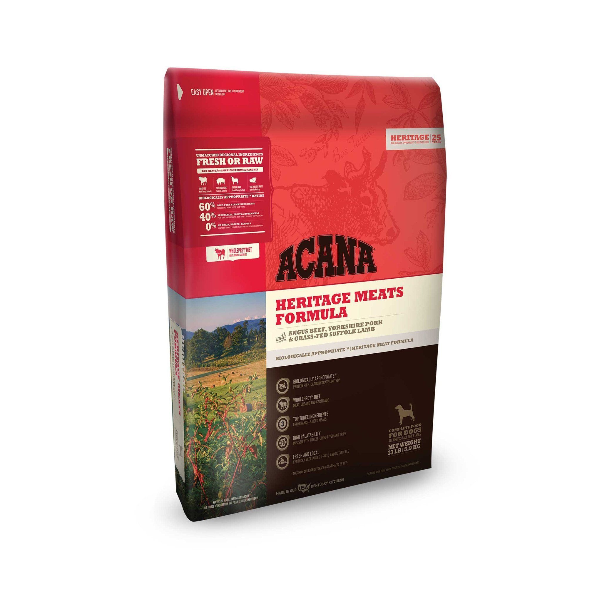 ACANA Dog Food Heritage Red Meat Dry dog food, Acana