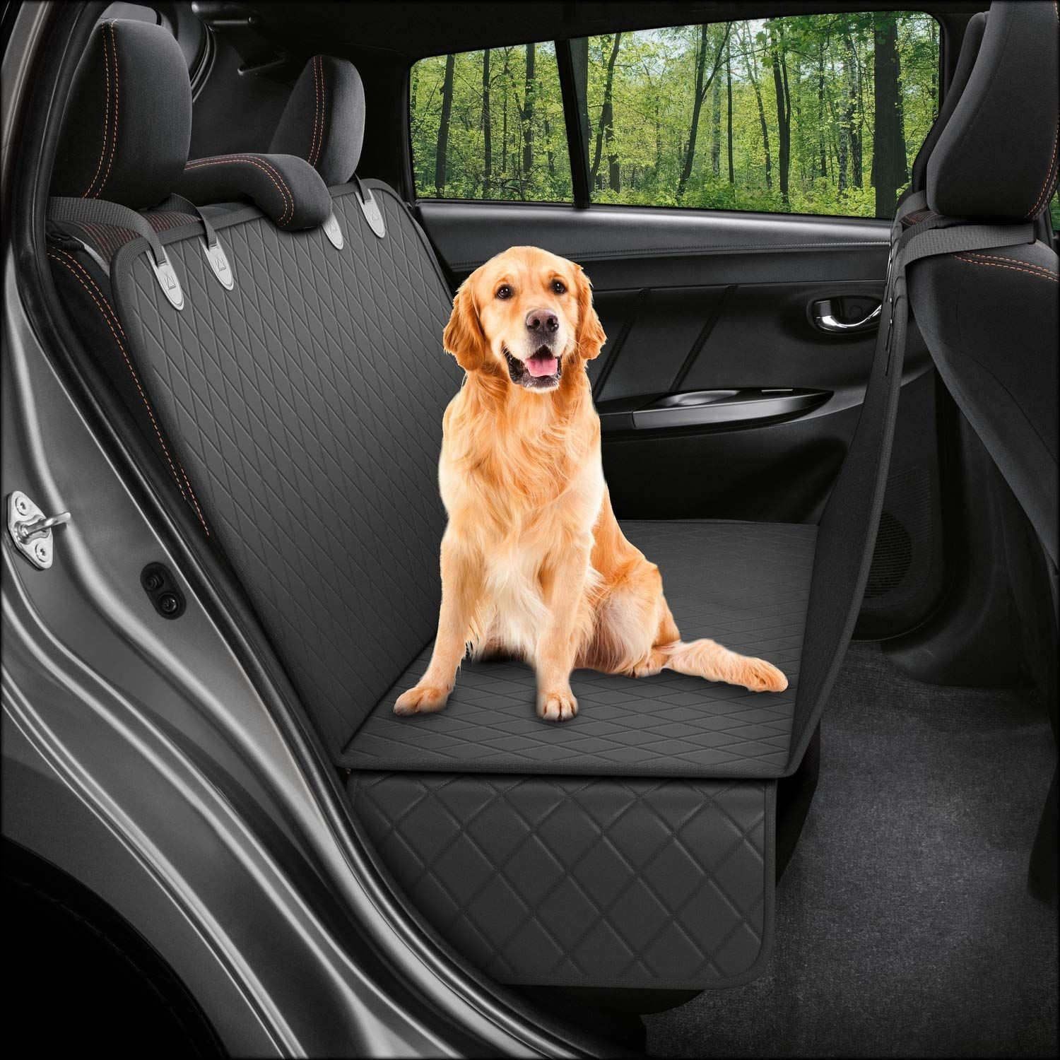 Dog Back Seat Cover Protector Waterproof Scratchproof Nonslip Hammock For Dogs Backseat Protection Against D Dog Car Seat Cover Dog Seat Covers Pet Seat Covers