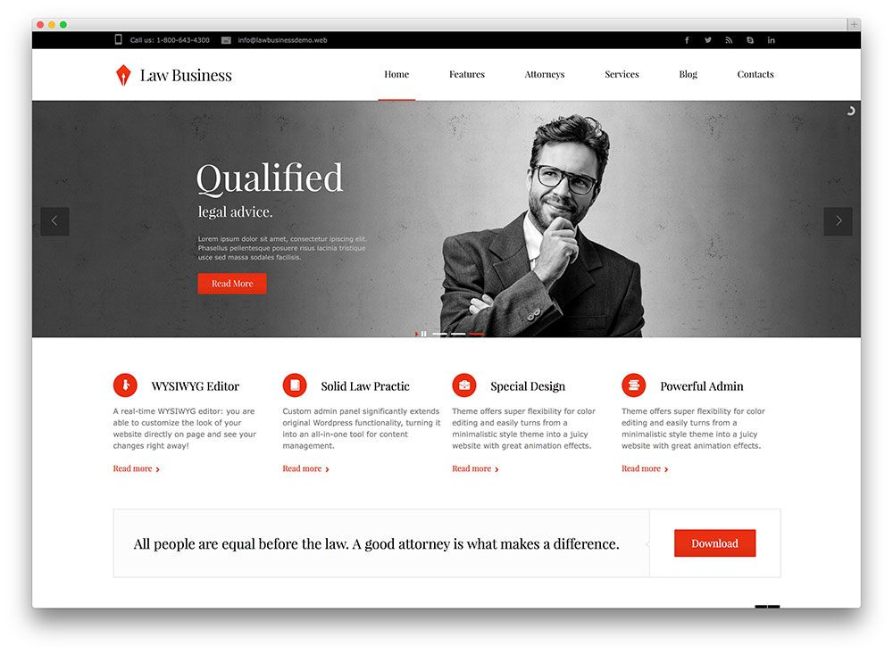 Beautiful Law Office Website Template Ornament Examples - Lawyer website template