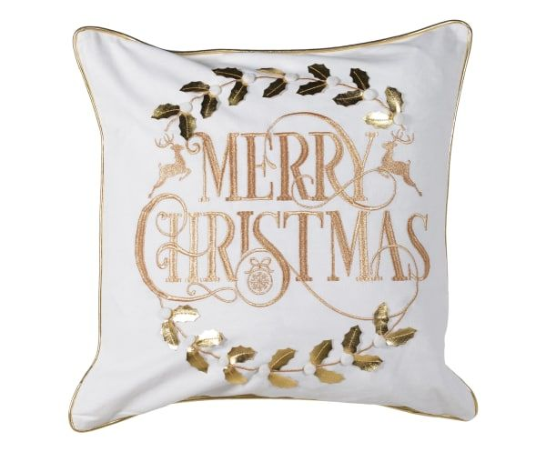 Golden christmas pillow case - westwing.de