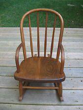Antique Bentwood Oak Child S Rocking Chair Antique