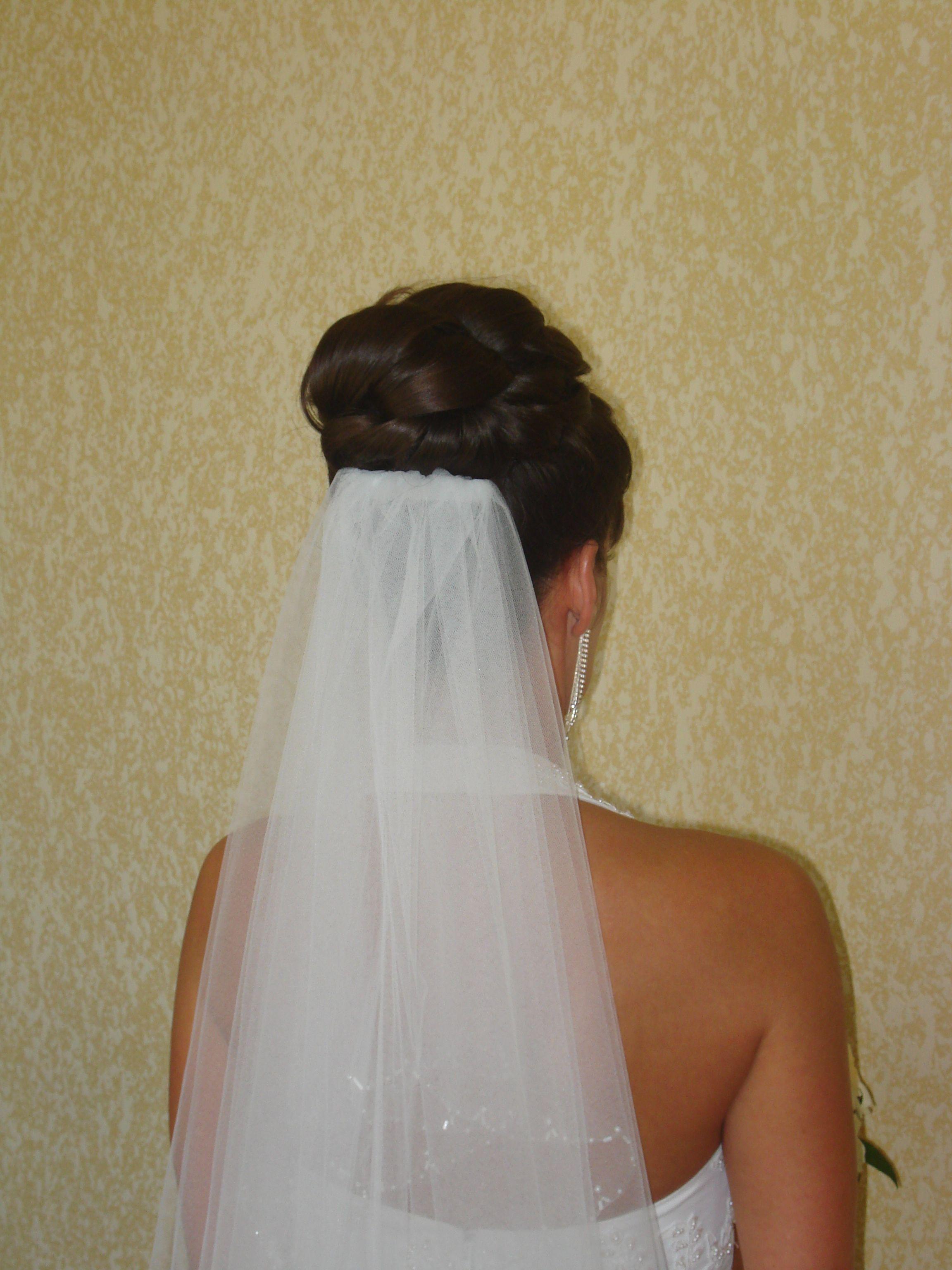 updo with veil- back view | wedding hair | pinterest | updo, veil